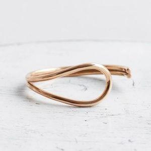 Minoux Solid Bronze Cuff Bracelet